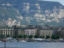 La vista sobre el Lago de Ginebra