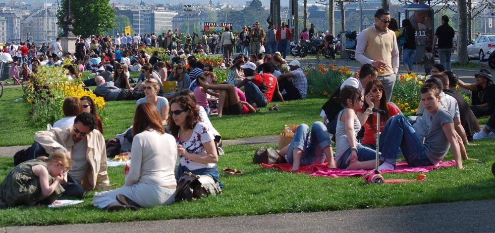 Mosaico cultural y racial en el Lago Ginebra