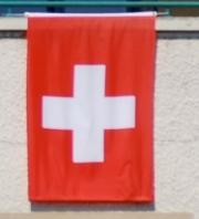 Bandera Suiza para el 1 de agosto