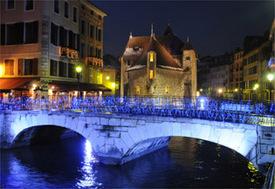 Las calles de Annecy iluminadas - Foto Ville d'Annecy