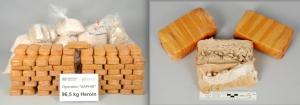 Fotos de la droga decomisada por la policía de Zurich