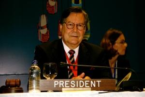 Embajador Jürg Streuli de Suiza expresident de la Convenció de Minas Antipersonal - Foto Laila Rodríguez