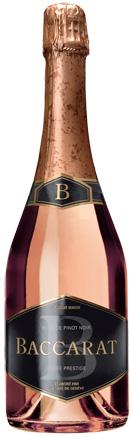 Vino espumoso: Baccarat Cuvée Prestige Rosé de Pinot Noir Brut, ganador del premio Effervescents du Monde 2012.