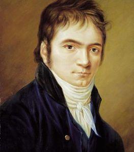 Retrato de Beethoven del 1800 - Imagen de Wikipedia
