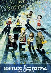 afiche festival de jazz de montreux