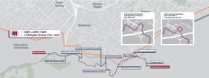Mapa de linea bus M dada a conocer por el ©TPG en Ginebra