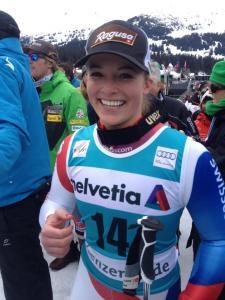 Lara Gut esquiadora suiza y única ganadora de medalla en los mundiales de 2013 - Foto de Swiss-Ski.