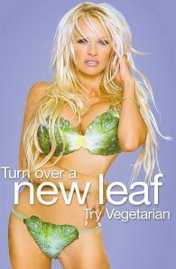Pamela Anderson en su campaña de PETA promoviendo la dieta vegetariana - Foto de PETA