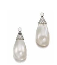 Pendientes de perla natural y diamantes de Gina Lollobrigida vendidos en Sotheby's por mucho más de los que pertencieron a Liz Taylor - Foto de Sotheby's