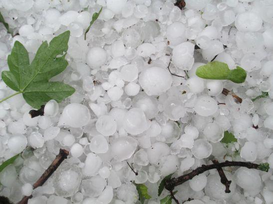 rock hail size