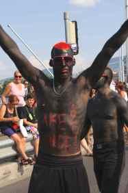 The men at Geneva's Lake Parade115