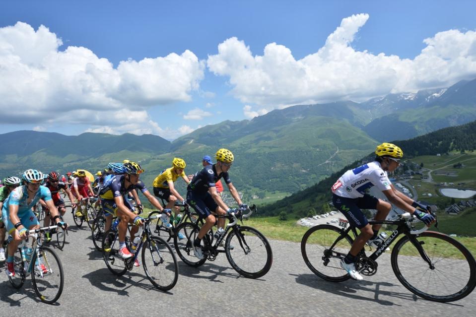 Nairo Quintana lidera en la octava etapa del Tour de Francia - Foto de Tour de France ©Presse Sports