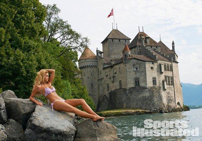 Kate Bock en la región del Lago de Ginebra Suiza