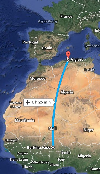Burkina Faso to Algeria