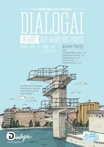 silent party poster Geneva