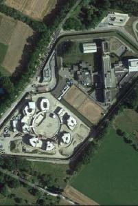 Prisión de Champ Dollon en Ginebra, Suiza - Foto de mapa de Google