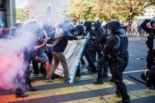 Disturbios en Ginebra, foto de Tribune de Geneve y ©Pierre Albouy