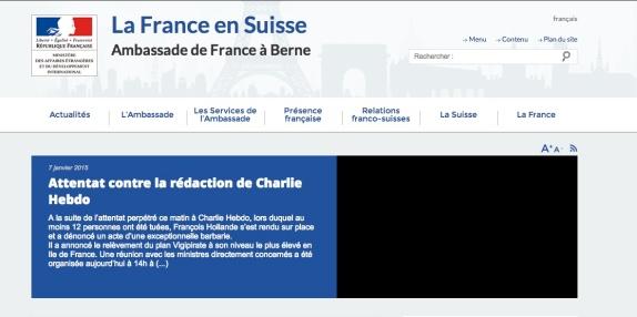 French embassy in Switzerland