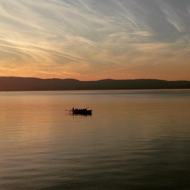 Atardecer Lago de Ginebra en abril 2015 - Foto de Jared Bloch