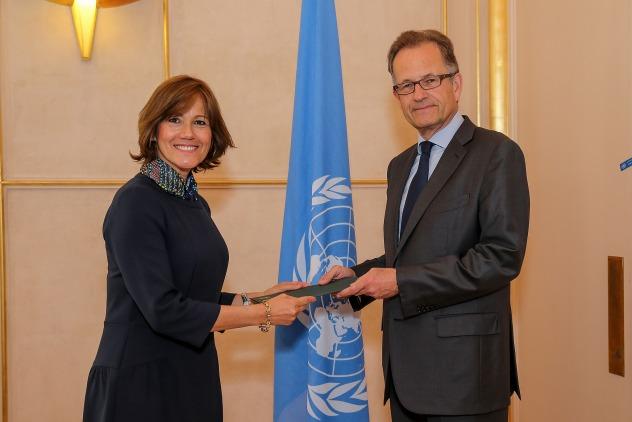 Foto de prensa de ©UNTV/PM Virot Embajadora Londoño