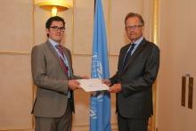 Hernán Estrada Roman embajador de Nicaragua ante la ONU en Ginebra