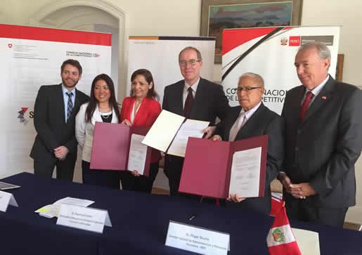 Acuerdo suiza y Perú de economía - Foto de prensa del MEF.